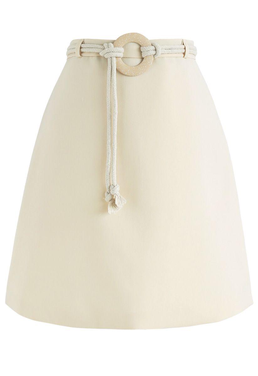 Minifalda Bud de Nadie como tú en crema