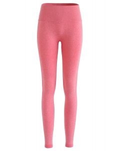 Butt Lift High-Rise Fitted Leggings in Peach
