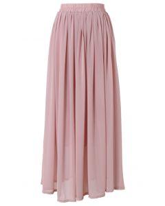 Maxi Falda Color Rosa