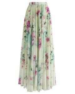 Maxi Falda con Estampado Floral