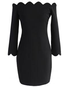 Vestido recto con hombros descubiertos The Era of Your Charm en negro