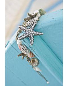 Brazalete con Perlas, Caracolas y Estrellas de Mar