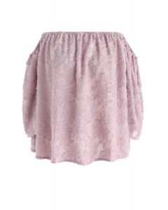 Top sin hombros con borlas florales Best in Bloom en rosa
