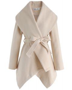 Abrigo de rabato de pradera en crema