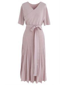 Vestido de punto encantador sin esfuerzo en rosa