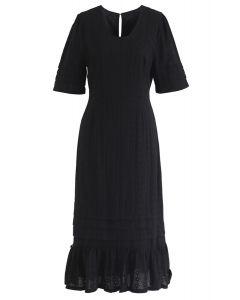 No se puede obtener suficiente vestido bordado en negro