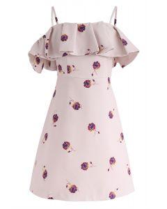Vestido de hombro frío con estampado floral Beauty Remains